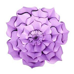 Flor de Papel Decoração Festa - Flor do Campo 32cm P Lilás - Decora Doces - Rizzo Festas