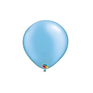 Balão Qualatex Perolado Radiante Opaco Azul Celeste 5'' 5 unidades Profissional - Rizzo Festas