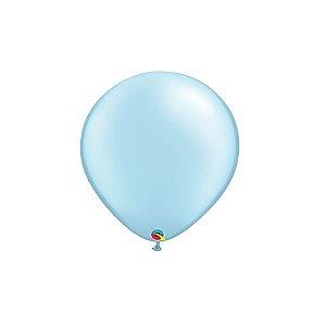 Balão Qualatex Perolado Radiante Opaco Azul Claro 5'' 5 unidades Profissional - Rizzo Festas