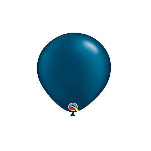Balão Qualatex Perolado Radiante Opaco Azul Noite 5'' 5 unidades Profissional - Rizzo Festas