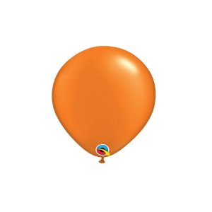 Balão Qualatex Perolado Radiante Opaco Laranja Mandarim 5'' 5 unidades Profissional - Rizzo Festas
