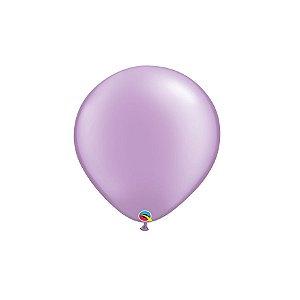 Balão Qualatex Perolado Radiante Opaco Lavanda 5'' 5 unidades Profissional - Rizzo Festas