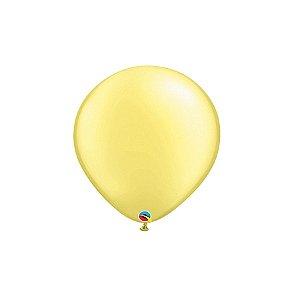 Balão Qualatex Perolado Radiante Opaco Limão Chiffon 5'' 5 unidades Profissional - Rizzo Festas