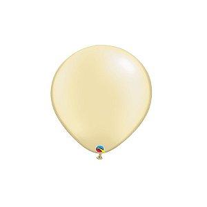 Balão Qualatex Perolado Radiante Opaco Marfin 5'' 5 unidades Profissional - Rizzo Festas