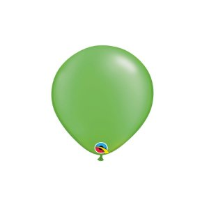 Balão Qualatex Perolado Radiante Opaco Verde Lima 5'' 5 unidades Profissional - Rizzo Festas