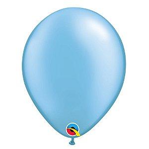 Balão Qualatex Perolado Radiante Opaco Azul Celeste 11'' 5 unidades Profissional - Rizzo Festas