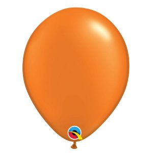 Balão Qualatex Perolado Radiante Opaco Laranja Mandarim 11'' 5 unidades Profissional - Rizzo Festas
