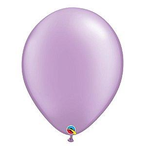 Balão Qualatex Perolado Radiante Opaco Lavanda 11'' 5 unidades Profissional - Rizzo Festas