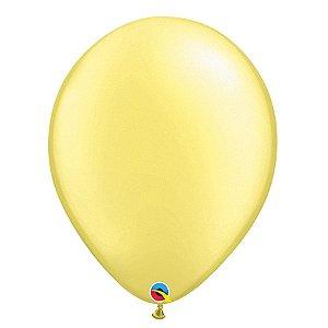 Balão Qualatex Perolado Radiante Opaco Limão Chiffon 11'' 5 unidades Profissional - Rizzo Festas