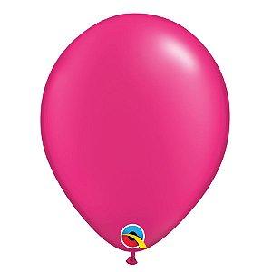 Balão Qualatex Perolado Radiante Opaco Magenta 11'' 5 unidades Profissional - Rizzo Festas