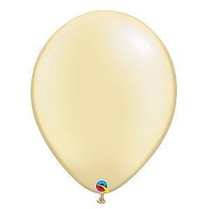 Balão Qualatex Perolado Radiante Opaco Marfin 11'' 5 unidades Profissional - Rizzo Festas