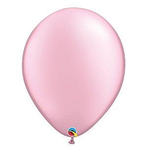 Balão Qualatex Perolado Radiante Opaco Rosa 11'' 5 unidades Profissional - Rizzo Festas