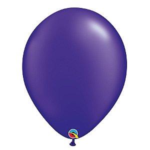 Balão Qualatex Perolado Radiante Opaco Roxo 11'' 5 unidades Profissional - Rizzo Festas