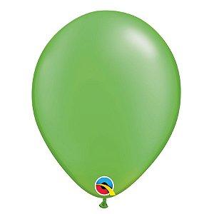 Balão Qualatex Perolado Radiante Opaco Verde Lima 11'' 5 unidades Profissional - Rizzo Festas