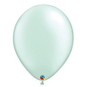 Balão Qualatex Perolado Radiante Opaco Verde Menta 11'' 5 unidades Profissional - Rizzo Festas