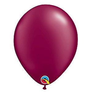 Balão Qualatex Perolado Radiante Opaco Vinho 11'' 5 unidades Profissional - Rizzo Festas