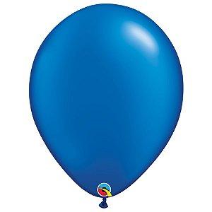 Balão Qualatex Perolado Radiante Opaco Azul Safira 16'' 5 unidades Profissional - Rizzo Festas