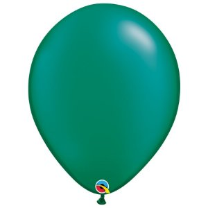 Balão Qualatex Perolado Radiante Opaco Verde Esmeralda 16'' 5 unidades Profissional - Rizzo Festas