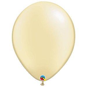 Balão Qualatex Perolado Radiante Opaco Marfin 16'' 5 unidades Profissional - Rizzo Festas