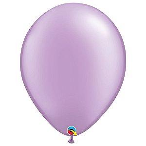 Balão Qualatex Perolado Radiante Opaco Lavanda 16'' 5 unidades Profissional - Rizzo Festas