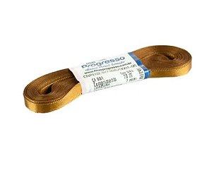 Fita de Cetim Progresso 7mm nº1 - 10m Cor 043 Marrom Dourado - 01 unidade - Rizzo Embalagens