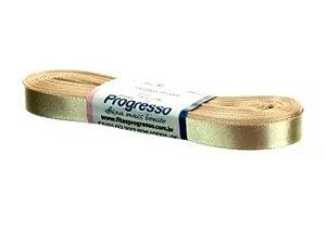 Fita de Cetim Progresso 10mm nº2 - 10m Cor 236 Bege - 01 unidade - Rizzo Embalagens