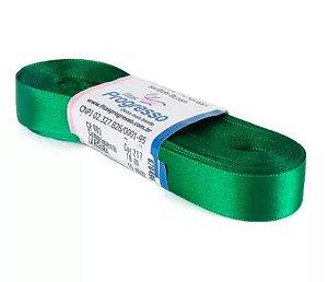 Fita de Cetim Progresso 15mm nº3 - 10m Cor 217 Verde Bandeira - 01 unidade - Rizzo Embalagens