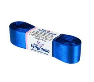 Fita de Cetim Progresso 22mm nº5 - 10m Cor 214 Azul Royal - 01 unidade - Rizzo Embalagens