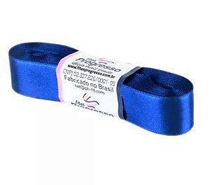 Fita de Cetim Progresso 22mm nº5 - 10m Cor 276 Azul Pavão - 01 unidade - Rizzo Embalagens