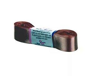 Fita de Cetim Progresso 22mm nº5 - 10m Cor 971 Chocolate - 01 unidade - Rizzo Embalagens