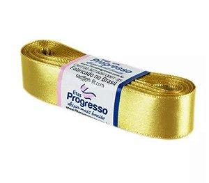 Fita de Cetim Progresso 22mm nº5 - 10m Cor 228 Ouro - 01 unidade - Rizzo Embalagens