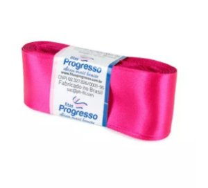 Fita de Cetim Progresso 38mm nº9 - 10m Cor 303 Pink - 01 unidade - Rizzo Embalagens