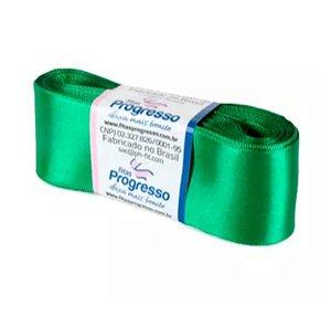 Fita de Cetim Progresso 38mm nº9 - 10m Cor 217 Verde Bandeira - 01 unidade - Rizzo Embalagens