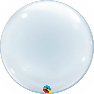 Balão Bubble Transparente - 24'' 61cm - Qualatex - Rizzo festas