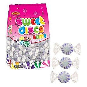 Bala Sweet Discs Sams 150 unidades 480g - Roxo - Simas - Rizzo Embalagens