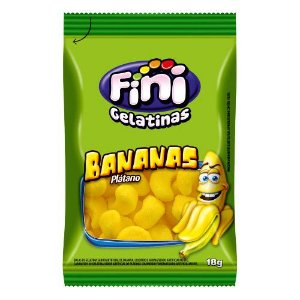 Bananas Pocket 12 unidades de 18g - Fini - Rizzo Embalagens