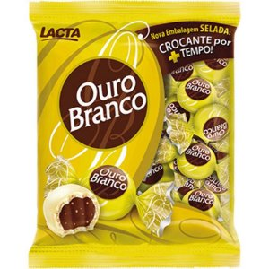 Bombom Ouro Branco 1kg - Lacta - Rizzo Embalagens