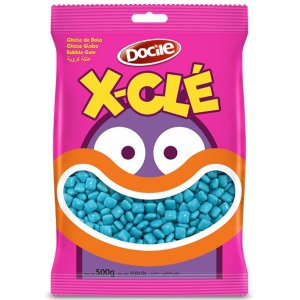 Chiclete X-CLÉ Azul - 500g - Docile - Rizzo Embalagens