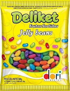 Deliket Bala de Goma Confeitada Frutas 500g - Dori Alimentos - Rizzo Embalagens