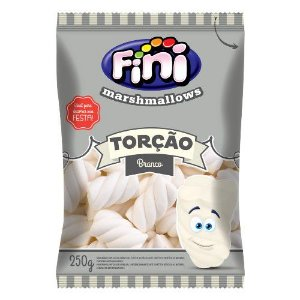 Marshmallow Torcao Branco 250g - Fini - Rizzo Embalagens