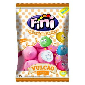 Marshmallow Vulcao Rosa 250g - Fini - Rizzo Embalagens
