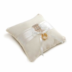 Almofada para Alianca Fita Cetim (28400024) - 01 unidade - Cromus Casamento Classico - Rizzo Festas
