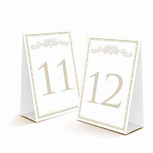 Plaquinhas para Numero de Mesa - 30 unidades - Cromus Casamento Classico - Rizzo Festas