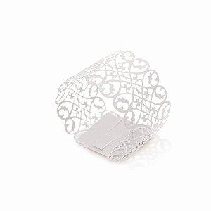 Porta Guardanapo Branco - 06 unidades - Cromus Casamento Classico - Rizzo Festas