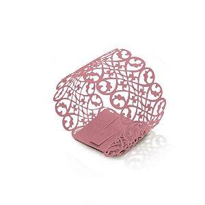 Porta Guardanapo Rose - 06 unidades - Cromus Casamento Romantico - Rizzo Festas