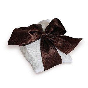 Kit Bem Casado Branco_Marrom - 20 unidades - Cromus Casamento Rustico - Rizzo Festas