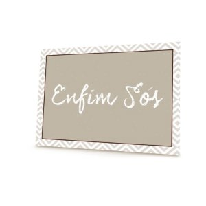 Placa Enfim Sos - 01 unidade - Cromus Casamento Rustico - Rizzo Festas