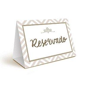 Placa Reservado (2301569) - 06 unidades - Cromus Casamento Rustico - Rizzo Festas