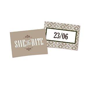 Placa Save the Date - 01 unidade - Cromus Casamento Rustico - Rizzo Festas