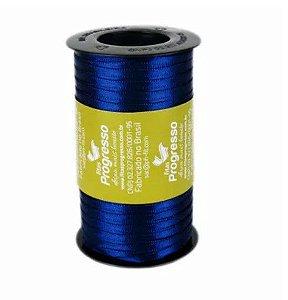 Fita de Cetim Carretel Progresso 4mm nº00 - 100m Cor 215 Azul Marinho - 01 unidade - Rizzo Embalagens